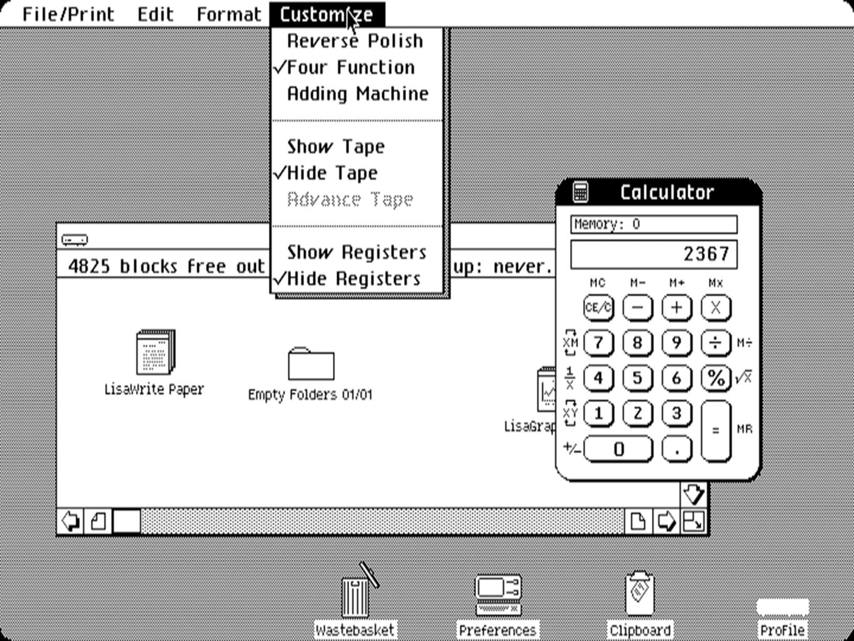 (1983) Lisa OS X