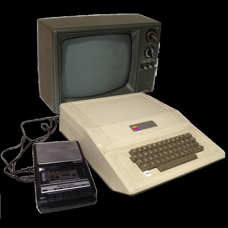 (1977) Apple II cassette-TV
