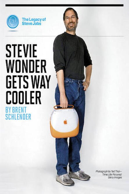 Stevie Wonder Gets Way Cooler The Legacy of Steve Jobs