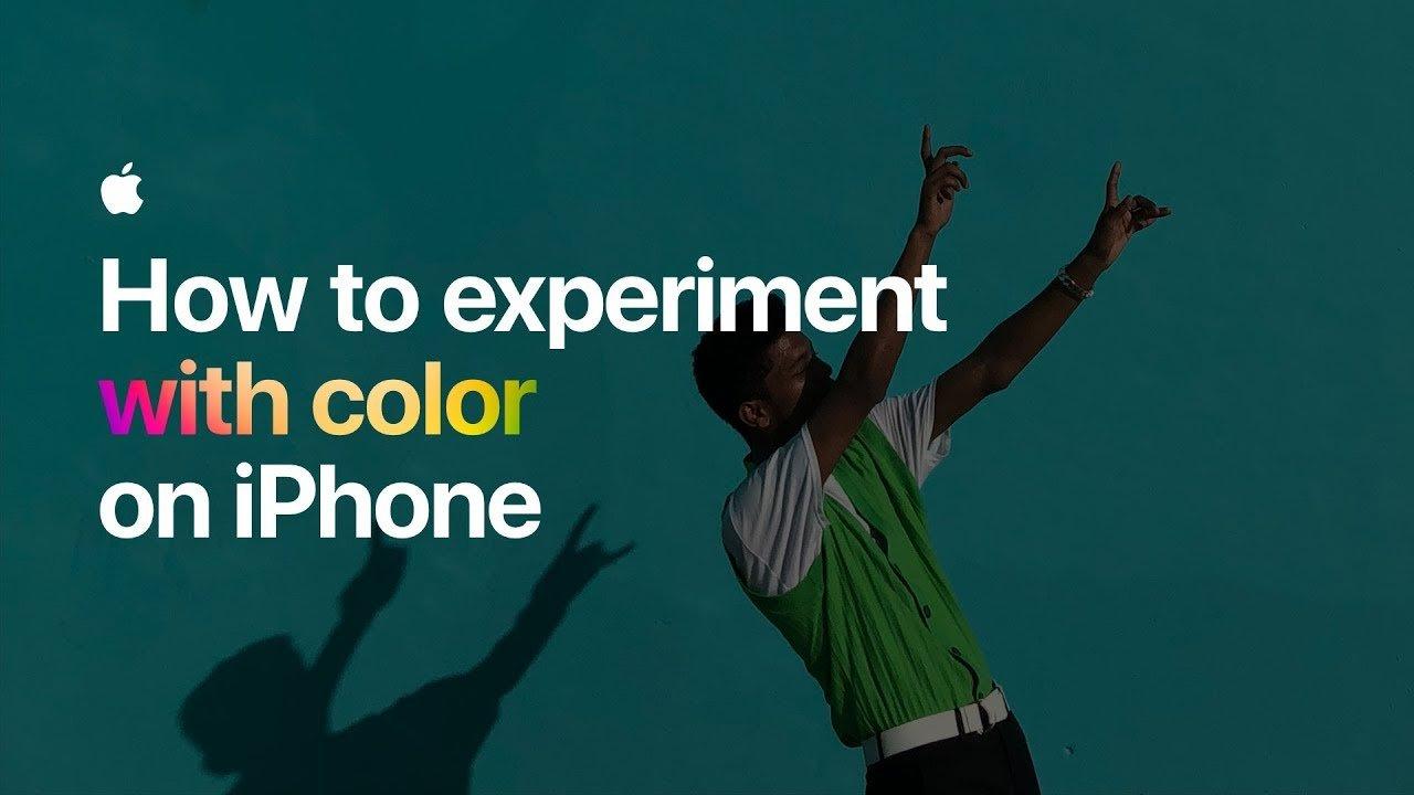 Apple pubblica un nuovo video tutorial: sperimentare con i colori su iPhone!