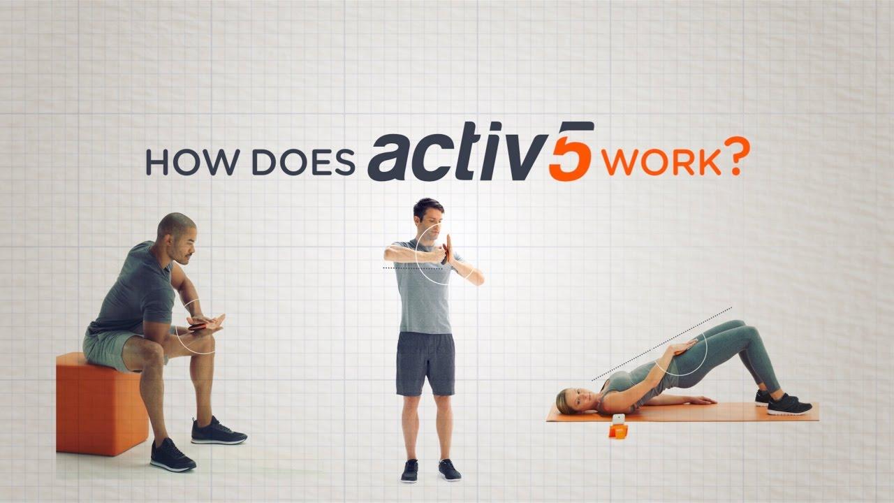 Activ5 è uno strumento per l'allenamento: la sua app vi fa da coach